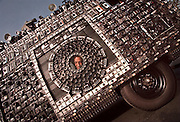 """Invited to his first car show, Harrold Blank showed off the 'Camera Van' he created by completely covering a 1972 Dodge van with 1,705 cameras, including 40 that flash and 10 that take photos of people who express their reaction to his most recent 'art car.' : AUTO FOCUS : A BIG DRAW AT THE 1998 INTERNATIONAL AUTO SHOW AT THE KINGDOME IS HARROD BLANK'S """" CAMERA VAN,"""" WHICH HE CREATED BY COVERING A 1972 VAN WITH 1,705 CAMERAS, INCLUDING 10 THAT PHOTOGRAPH PEOPLE'S REACTIONS TO THE VEHICLE."""