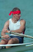 Lucerne, Switzerland. 1995 FISA WC III, Lake Rottsee, Lucerne,<br /> CZE M1X. Vaclav CHULUPA.<br /> [Mandatory Credit. Peter SPURRIER/Intersport Images]<br /> <br /> Image scanned from Colour Negative
