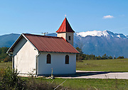 Croatia, Velebit mountain range small rural church