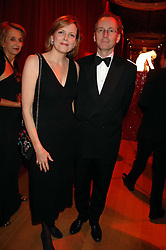 The EARL & COUNTESS OF WOOLTON at a dinner held at the Natural History Museum to celebrate the re-opening of their store at 175-177 New Bond Street, London on 17th October 2007.<br />