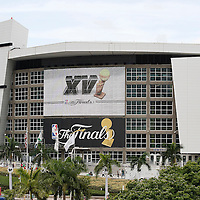 21 June 2012: General view of the AmericanAirlinesArena prior to the Miami Heat 121-106 victory over the Oklahoma City Thunder, in Game 5 of the 2012 NBA Finals, at the AmericanAirlinesArena, Miami, Florida, USA. The Miami Heat wins the series 4-1.