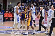 DESCRIZIONE : Beko Legabasket Serie A 2015- 2016 Dinamo Banco di Sardegna Sassari - Manital Auxilium Torino<br /> GIOCATORE : Jerome Dyson Kenneth Kadji<br /> CATEGORIA : Fair Play Before Pregame<br /> SQUADRA : Dinamo Banco di Sardegna Sassari<br /> EVENTO : Beko Legabasket Serie A 2015-2016<br /> GARA : Dinamo Banco di Sardegna Sassari - Manital Auxilium Torino<br /> DATA : 10/04/2016<br /> SPORT : Pallacanestro <br /> AUTORE : Agenzia Ciamillo-Castoria/L.Canu