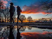 Sunset over Riverside Park, NYC