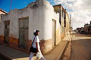 Nurse in the street in Gibara,Holguin,Cuba.