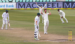 Durban. 050318. Josh Hazlewood of Australia appeals for the wicket of Hashim Amla of the Proteas during day 4 of the 1st Sunfoil Test match between South Africa and Australia at Sahara Stadium Kingsmead on March 04, 2018 in Durban, South Africa. Picture Leon Lestrade/African News Agency/ANA