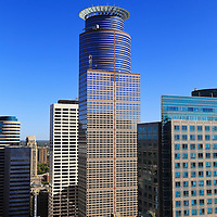 """""""Capella Tower"""" <br /> <br /> The beautiful Capella Tower among other buildings in downtown Minneapolis.<br /> <br /> Cities and Skyscrapers by Rachel Cohen"""