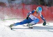 United States' Ted Ligety competes during the men's giant slalom at the Sochi 2014 Winter Olympics on February 19, 2014 in Krasnaya Polyana, Russia. Ligety won a gold medal with a time of 2:45.29 for his two runs.  (UPI)