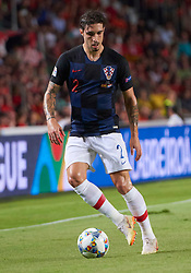 September 11, 2018 - Elche, U.S. - ELCHE, SPAIN - SEPTEMBER 11: Vrsaljko, defender of Croatia with the ball during the UEFA Nations League A Group four match between Spain and Croatia on September 11, 2018, at Estadio Manuel Martinez Valero in Elche, Spain. (Photo by Carlos Sanchez Martinez/Icon Sportswire) (Credit Image: © Carlos Sanchez Martinez/Icon SMI via ZUMA Press)