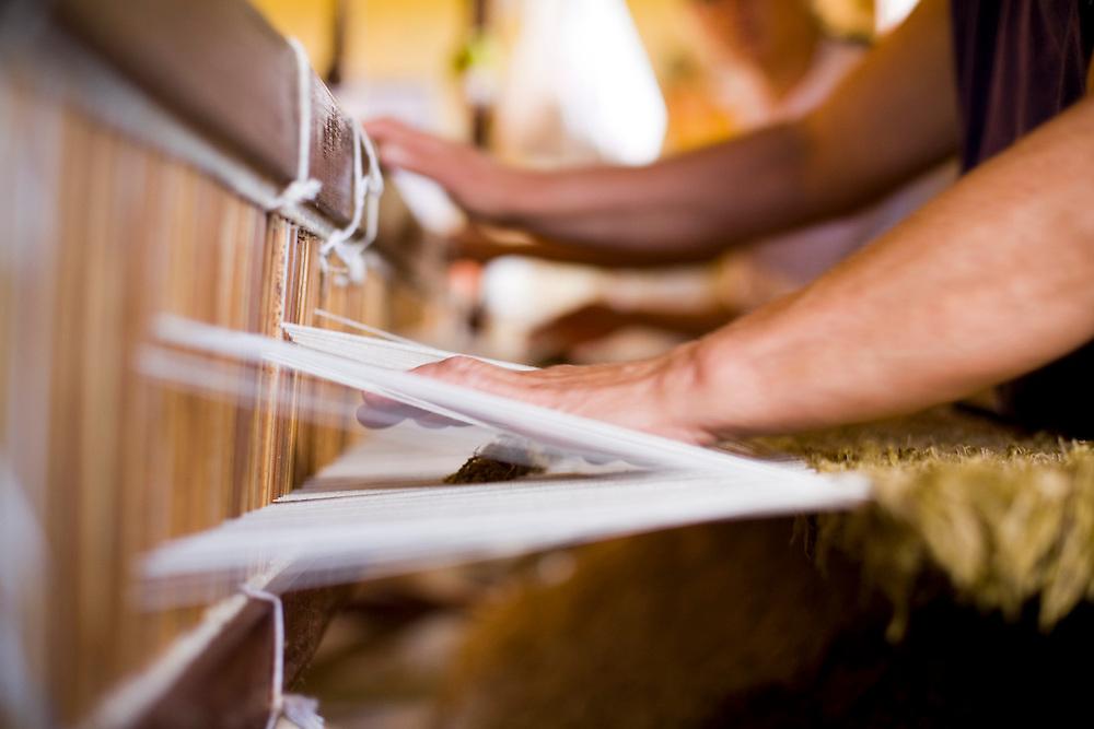 Itatiaiucu_MG, Brasil...Detalhe da tecelagem de colcha...Detail of weaving quilt...Foto: LEO DRUMOND / NITRO