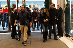 © Licensed to London News Pictures. 26/12/2016. Customers enter Selfridges store in Oxford Street for the start of the stores Boxing Day sales. London, UK. Photo credit: Ray Tang/LNP