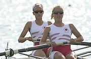 Nottingham, ENGLAND.  <br /> Commonwealth Regatta - Nottingham<br /> 20020818<br /> GBR LW2- Stephanie Temperton and Emma Thorpe