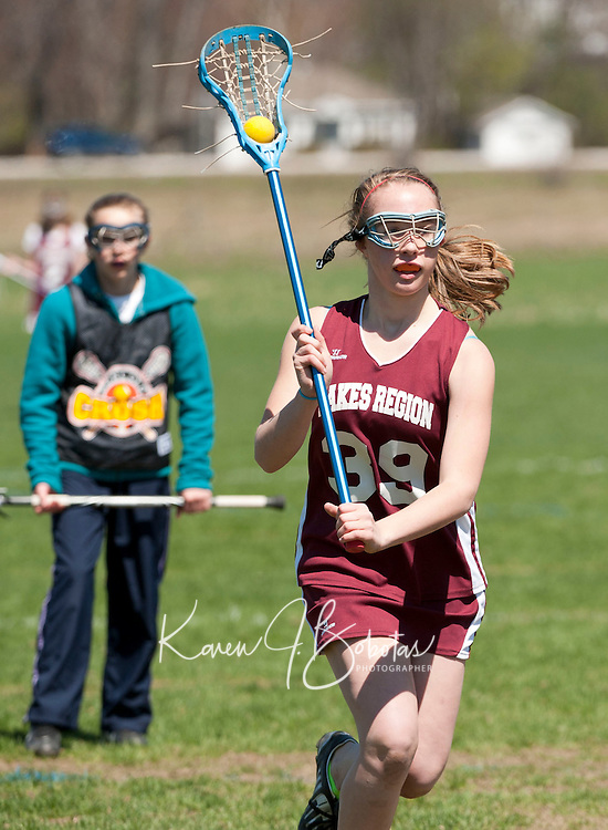 Lakes Region Lacrosse U13 girls versus Concord Crush May 1, 2011.