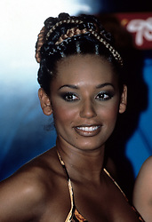 Mel B of The Spice Girls backstage at the 1998 BRIT Awards