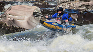 """Arkansas kayaker boofs the washing machine on the Cossatot River during the 1st annual  """"Tot Race"""". Image created by Alex Kent"""