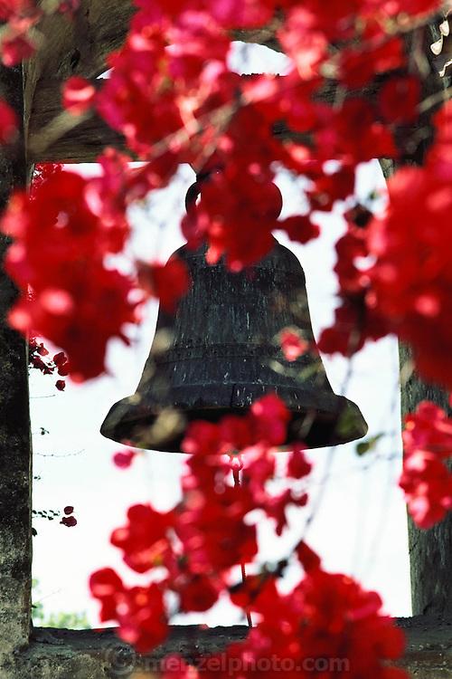 Church bell at Mission San Juan Capistrano. San Juan Capistrano, California, USA.