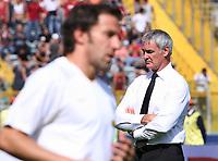 Claudio Ranieri, allenatore della Juventus e Alessandro Del Piero<br /> <br /> Roma vs Juventus 2-2<br /> <br /> Campionato di calcio di Serie A 2007-2008.<br /> <br /> Stadio Olimpico, Roma, 23/09/2007<br /> <br /> Photo Antonietta Baldassarre Inside