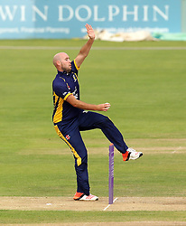 Durham's Chris Rushworth bowls - Mandatory by-line: Robbie Stephenson/JMP - 07966386802 - 04/08/2015 - SPORT - CRICKET - Bristol,England - County Ground - Gloucestershire v Durham - Royal London One-Day Cup