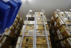 October 2, 2018 - Sao Paulo, Sao Paulo, Brazil - Oct, 2018 - In São Paulo, the electronic ballot boxes that will be used next Sunday during the Brazilian elections, are already audited, sealed and ready to be sent to the polling places of the second electoral zone of the city. (Credit Image: © Marcelo Chello/ZUMA Wire)