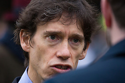 London, UK. 16th November, 2018. Rory Stewart, Minister of State at Ministry of Justice, appears on College Green in Westminster as uncertainty continues around the survival of Prime Minister Theresa May's Government and the number of letters of no confidence submitted to the 1922 Committee.
