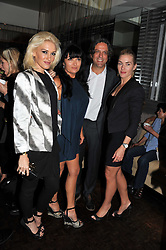 Left to right, GWEN STEFANI, PLAXY LOCATELLI, GIORGIO LOCATELLI and KATE WINSLET at a party to celebrate the publication of 'Made In Sicily' by Giorgio Locatelli at Locanda Locatelli, Seymour Street, London on 4th October 2011.