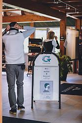 THEMENBILD - Golfspieler mit MSN Maske im Clubhaus. Golfplätze dürfen ab heute nach dem Lock Down wieder öffnen, aufgenommen am 01. Mai 2020 in Zell am See, Oesterreich // Golf player with MSN mask in the clubhouse. Golf courses are allowed to reopen after the lock down in Zell am See, Austria on 2020/05/01. EXPA Pictures © 2020, PhotoCredit: EXPA/ JFK