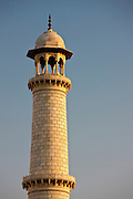 Minaret of The Taj Mahal mausoleum, Uttar Pradesh, India