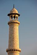 Minaret of The Taj Mahal mausoleum, Uttar Pradesh, India