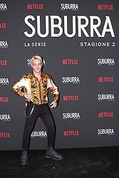 Salmo at the Red Carpet of the series Suburra 2 at Circolo Degli Illuminati in Rome, Italy, 20 February 2019 .Dress: Versace  (Credit Image: © Lucia Casone/Soevermedia via ZUMA Press)