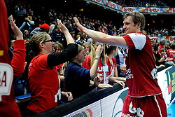 12-02-2012 VOLLEYBAL: BEKERFINALE EUPHONY ASSE LENNIK - NOLIKO MAASEIK: ANTWERPEN<br /> Noliko Maaseik wint vrij eenvoudig de beker van Belgie. In de finale waren zij met 25-21 25-18 en 25-19 te sterk voor Asse Lennik / Jelte Maan<br /> ©2012-FotoHoogendoorn.nl