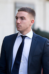 © Licensed to London News Pictures. 07/02/2013. London, UK. Brighton and Hove Albion football player Anton Rodgers, 20, is seen arriving at the Old Bailey  in London today (07/02/13) where he and four other players are facing charges of sexual assault. Photo credit: Matt Cetti-Roberts/LNP