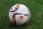 Deutschland, Hamburg. 12.02.16 2. Fussball Bundesliga Saison 2015/16 - 21. Spieltag FC St. Pauli - RasenBallsport Leipzig<br /> im Millerntorstadion<br /> <br /> Adidas, Ball, Fussball, Torfabrik<br /> <br /> © Torsten Helmke
