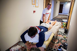 Aljaz Hocevar of Adria Mobil giving a massage after the Stage 3 of 24th Tour of Slovenia 2017 / Tour de Slovenie from Celje to Rogla (167,7 km) cycling race on June 16, 2017 in Hotel Natura, Rogla, Slovenia. Photo by Vid Ponikvar / Sportida