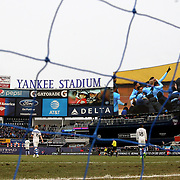 NEW YORK, NEW YORK - March 18:  Rodney Wallace #23 of New York City FC is shown on the stadium screen as he celebrates with team mates after scoring  during the New York City FC Vs Montreal Impact regular season MLS game at Yankee Stadium on March 18, 2017 in New York City. (Photo by Tim Clayton/Corbis via Getty Images)