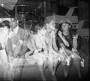 DUGGIE FIELDS, night before the royal wedding, Knightsbridge. London. 1981