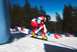 Snowboarder during parallel slalom FIS Snowboard Alpine World Championships 2021 on March 2nd 2021 on Rogla, Slovenia. Photo by Grega Valancic / Sportida