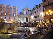 Italy, Rome, Trevi Fountain at night