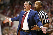 BLOOMINGTON, IN - FEBRUARY 03,  Indiana Hoosiers Head Coach Archie Miller  during the game against the Michigan State Spartans and the Indiana Hoosiers at Simon Skjodt Assembly Hall in Bloomington, IN Photo By Craig Bisacre/Indiana Athletics