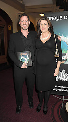 AMANDA LAMB and SEAN McGUINNESS at the Cirque du Soleil's gala premier of Quidam held at the Royal Albert Hall, London on 6th January 2009.