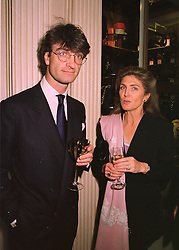 LORD MANCROFT and his sister PRINCESS NICHOLAS VON PREUSSEN, at a party in London on 29th April 1998.MHG 35