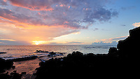 Sunset. Big Island Hawaii. Image taken with a Nikon D2xs and 12-24 mm f/4 lens (ISO 100, 12 mm, f/11, 1/15 sec).