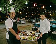 "Turkish ""meze"" being served."