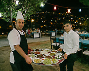 "Turkish ""meze"" being served."
