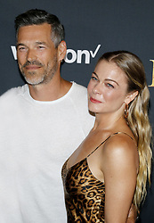 Eddie Cibrian and LeAnn Rimes at the World premiere of 'The Lion King' held at the Dolby Theatre in Hollywood, USA on July 9, 2019.