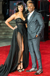 © Licensed to London News Pictures. 02/11/2017. London, UK. NICOLETTE ROBINSON and LESLIE ODOM JR attends the world film premiere of Murder On The Orient Express. Photo credit: Ray Tang/LNP