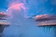 Fog at dawn over Niagara Falls<br /> Niagara Fall<br />Ontario<br />Canada
