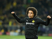 Axel Witsel of Dortmund warms up during  the Champions League round of 16, leg 2 of 2 match between Borussia Dortmund and Tottenham Hotspur at Signal Iduna Park, Dortmund, Germany on 5 March 2019.