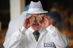 Scottish Bakery Awards_Dunfermline Blcc_17-04-2019<br /> <br /> Making a spectical while judging the baking<br /> <br /> (c) David Wardle   Edinburgh Elite media