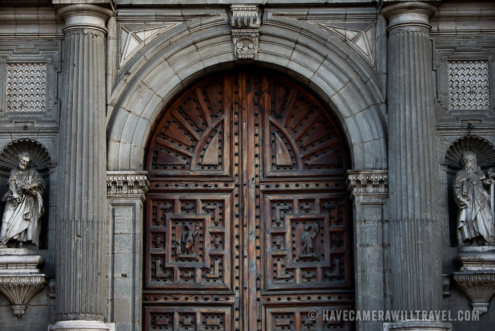 MEXICO CITY, MEXICO --Built in stages from 1573 to 1813, the Mexico City Metropolitan Cathedral is the largest Roman Catholic cathedral in the Americas. It sits in the heart of the historic quarter of Mexico City along one side of the the Zocalo.