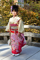 """Shichi-go-san is a festival celebrated by parents on the fifteenth of November in Japan, to mark the growth of their children as they turn three, five and seven years of age.  Shichi-go-san literally means """"seven, five and three"""". These ages are considered critical in a child's life. Particularly, at the age of seven, a young girl celebrates wearing her first obi, while at the age of five a young boy celebrates wearing his first hakama pants in public"""