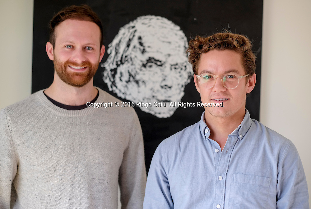 From left to right, Andrew Meyer and Tyler Gaul, partner of Swell Energy with a Sonnen battery.(Photo by Ringo Chiu/PHOTOFORMULA.com)<br /> <br /> Usage Notes: This content is intended for editorial use only. For other uses, additional clearances may be required.